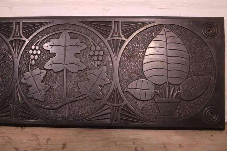 Large Mid-19th Century Decorative Folk Art Carved Slate Panel For Sale 1