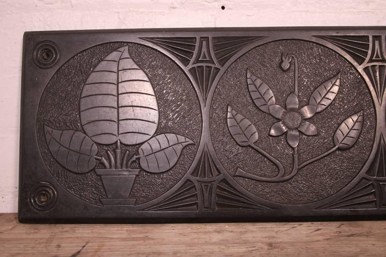 Large Mid-19th Century Decorative Folk Art Carved Slate Panel For Sale 2
