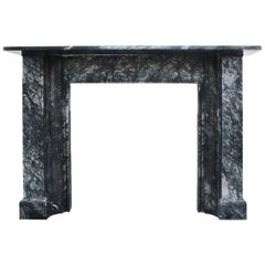 Large Mid-19th Century Grey Marble Fireplace Surround
