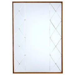 Large Mid-20th Century Deco Inspired Wall Mirror