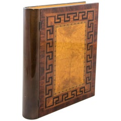 Large Mid-20th Century French Marquetry Box in the Shape of a Book