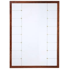 Large Mid-20th Century Palisander Wall Mirror by Glas and Tra