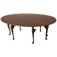 Large Mid-20th Century Pollard Elm Drop-Leaf Wake Table