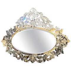 Large Mid-20th Century Venetian Mirror