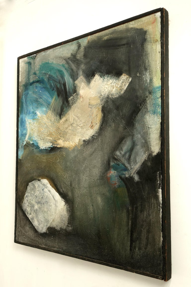 Large Midcentury American Abstract Expressionist Painting For Sale 7