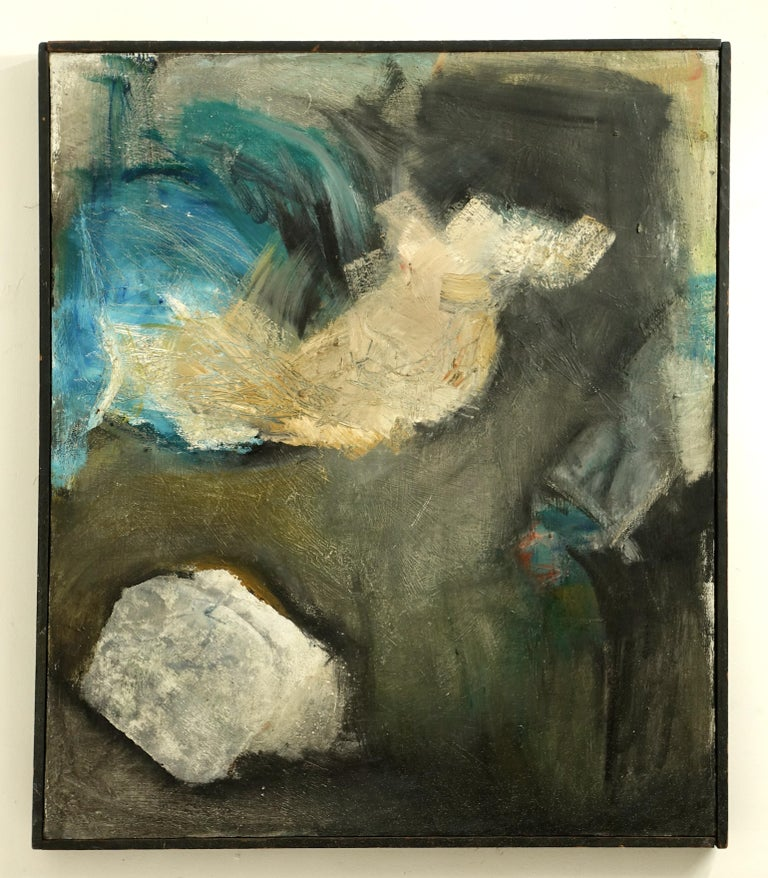 Large Midcentury American Abstract Expressionist Painting For Sale 1