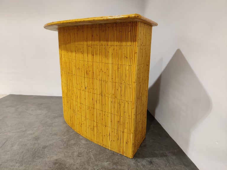 Mid-20th Century Large Midcentury Bamboo Bar, 1960s For Sale