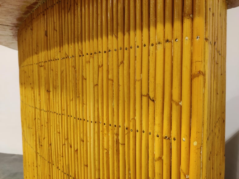 Large Midcentury Bamboo Bar, 1960s For Sale 1
