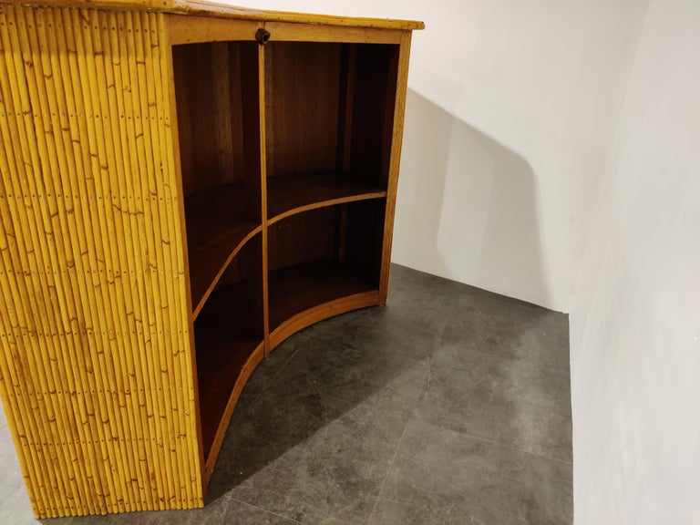 Large Midcentury Bamboo Bar, 1960s For Sale 2