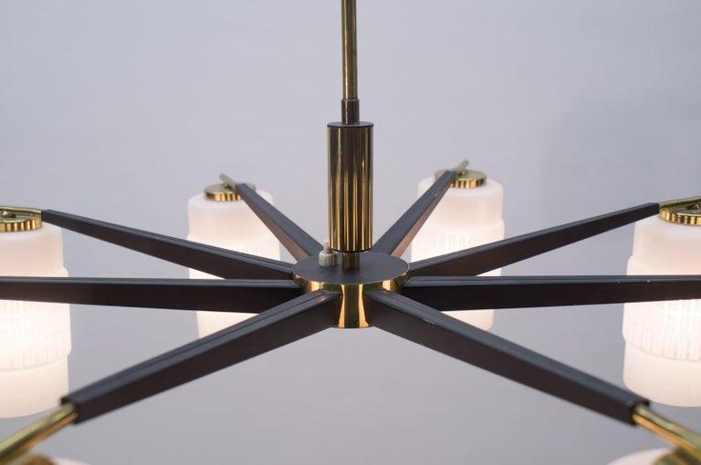 Large Midcentury Brass Pendant Sputnik Lamp, Germany 1970s For Sale 3