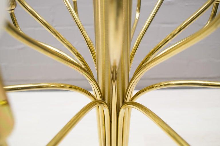 Large Midcentury Brass Pendant Sputnik Lamp, Germany, 1970s For Sale 5