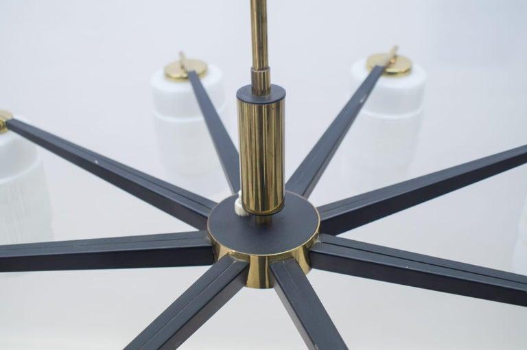 Large Midcentury Brass Pendant Sputnik Lamp, Germany 1970s For Sale 6
