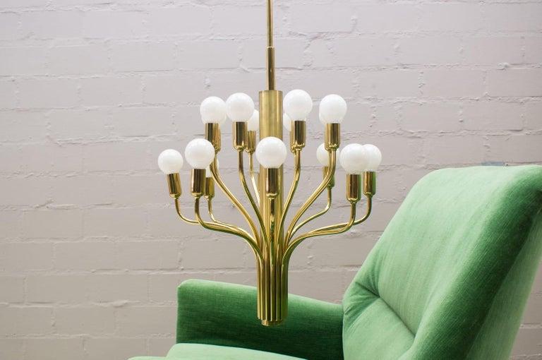 Mid-Century Modern Large Midcentury Brass Pendant Sputnik Lamp, Germany, 1970s For Sale