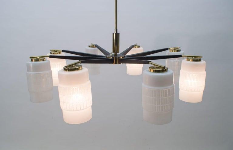 Mid-20th Century Large Midcentury Brass Pendant Sputnik Lamp, Germany 1970s For Sale