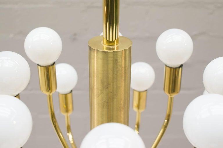 Large Midcentury Brass Pendant Sputnik Lamp, Germany, 1970s For Sale 2