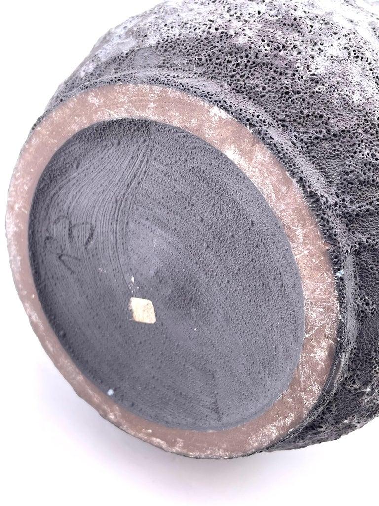 Large Midcentury Brutalist Pitcher in Lava Glaze For Sale 1