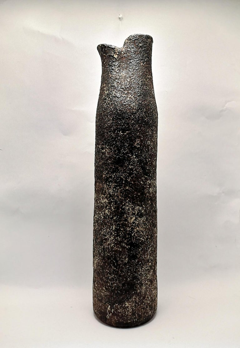 Mid-Century Modern Large Mid-Century Brutalist Style Floor Vase, 1970s For Sale