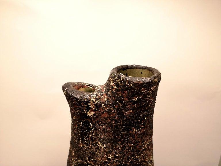Ceramic Large Mid-Century Brutalist Style Floor Vase, 1970s For Sale