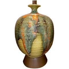 Large Midcentury Ceramic Table Lamp