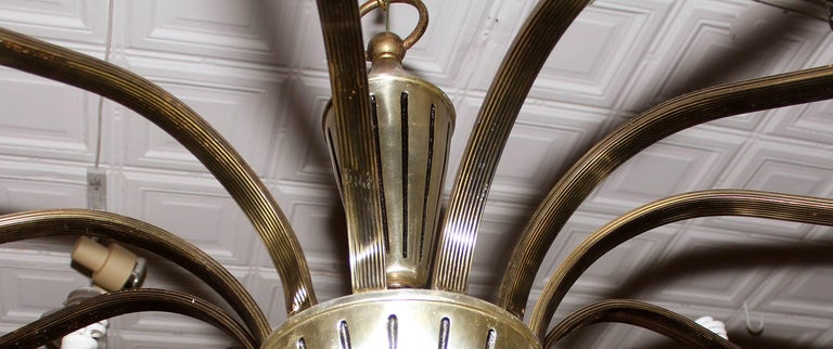 American Large Midcentury Chandelier For Sale