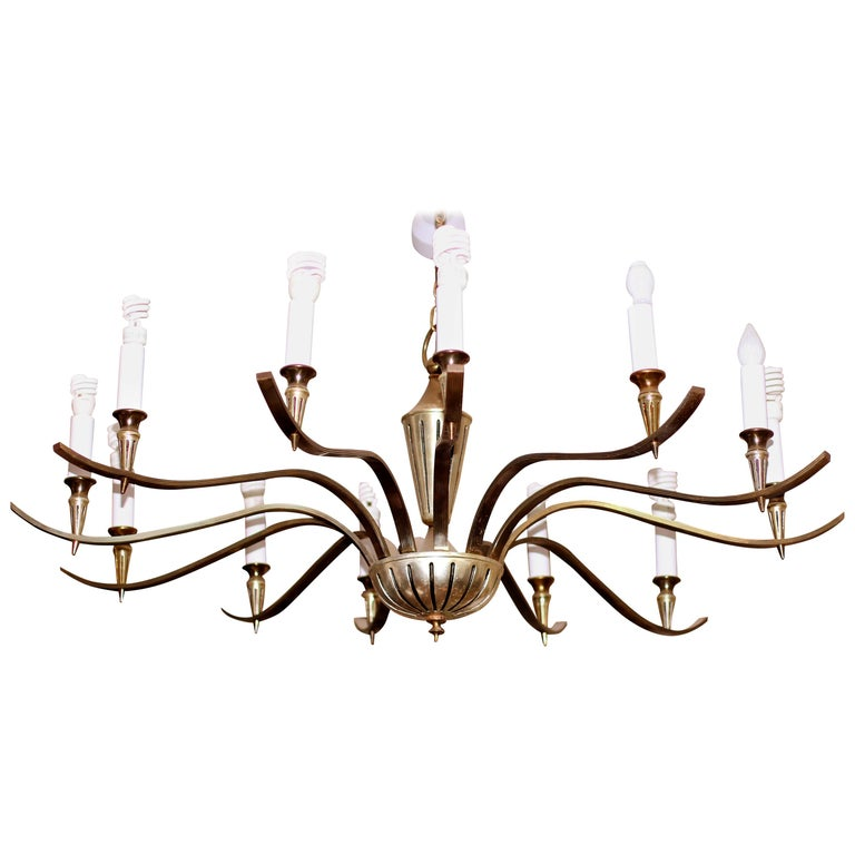 Large Midcentury Chandelier For Sale