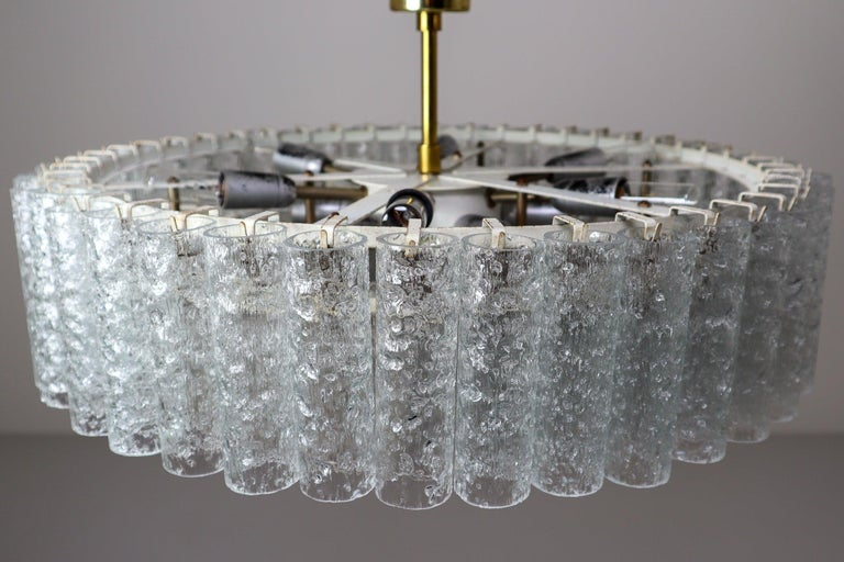 Large Midcentury Chandelier Doria Leuchten, Germany, 1950s In Good Condition For Sale In Almelo, NL