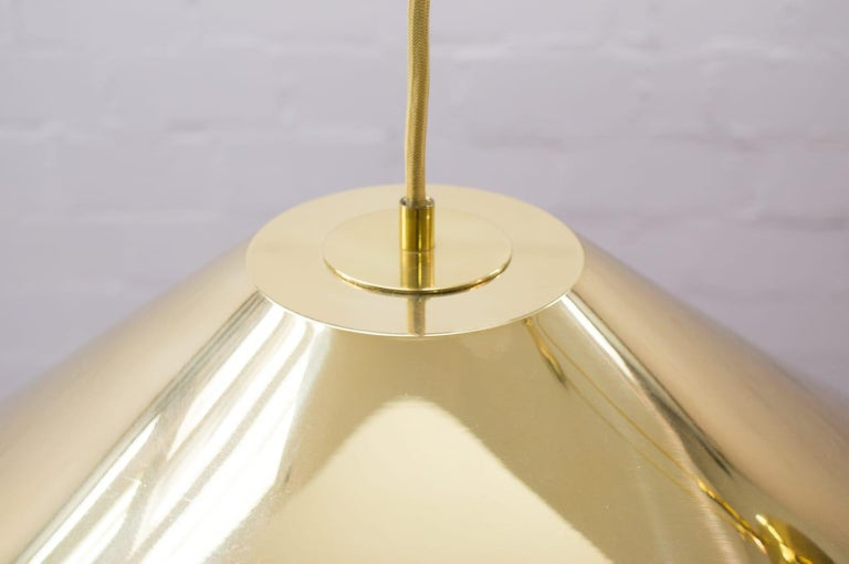 Late 20th Century Large Midcentury Counterweight Brass Pendant Lamp, Germany, 1970s For Sale