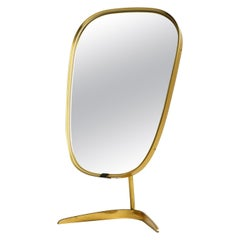 Large Mid-Century Crow's Foot Table Mirror Made of Brass by Münchner Zierspiegel