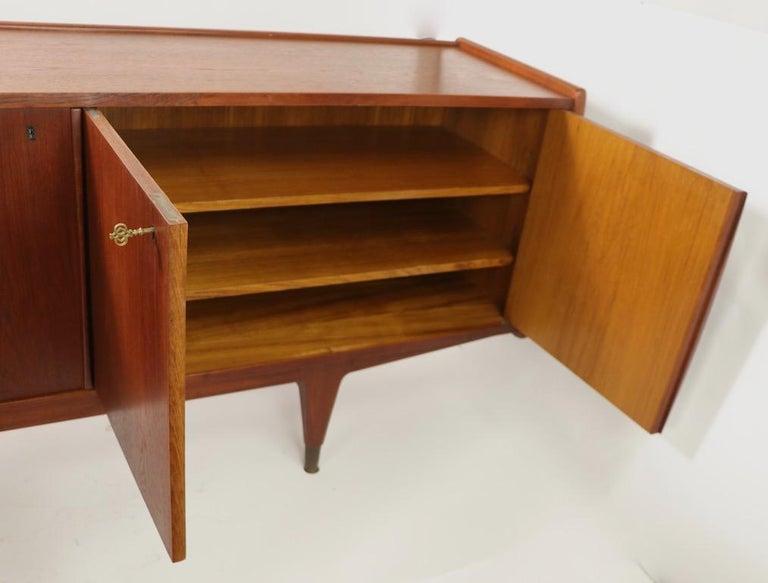 Large Mid Century  Danish Modern Teak Credenza For Sale 5