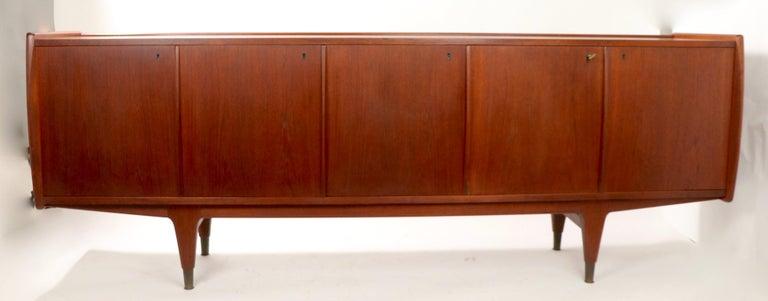 20th Century Large Mid Century  Danish Modern Teak Credenza For Sale