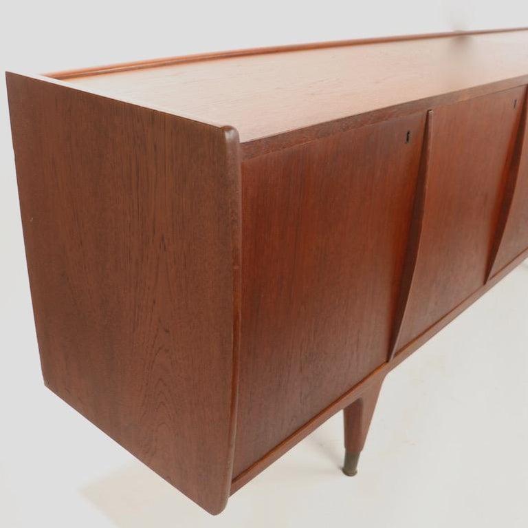 Large Mid Century  Danish Modern Teak Credenza For Sale 1