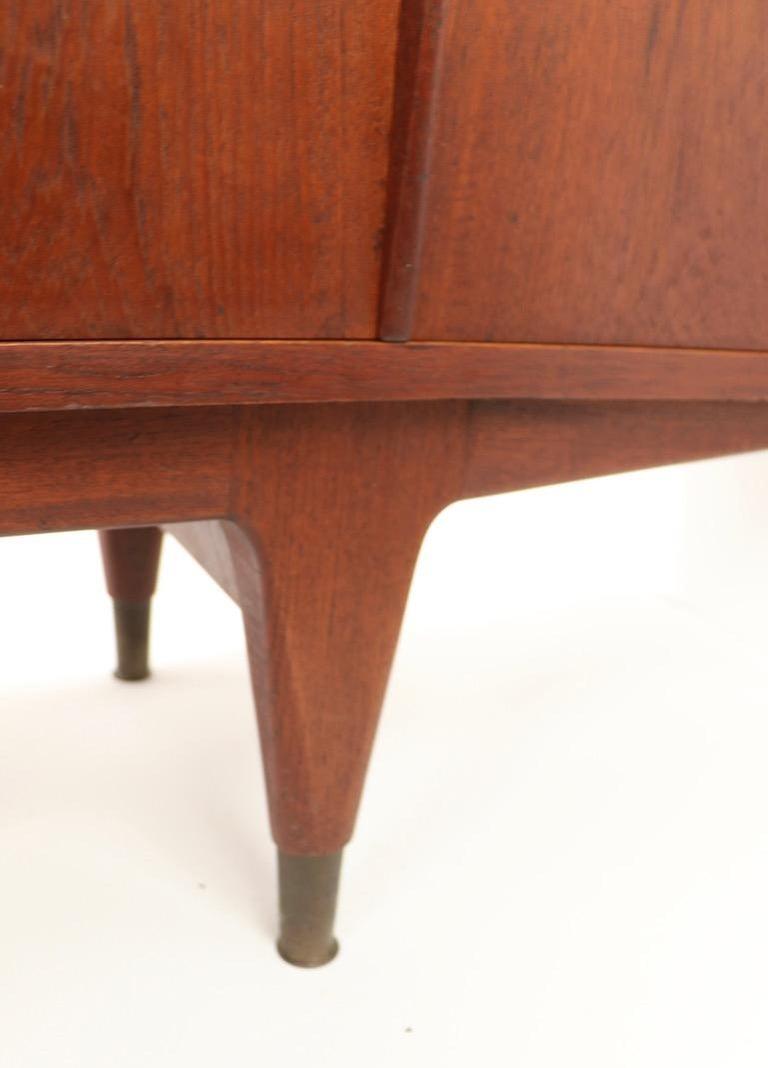 Large Mid Century  Danish Modern Teak Credenza For Sale 3