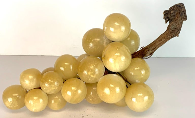 20th Century Large Midcentury Italian Marble Bunch of Grapes Sculpture For Sale