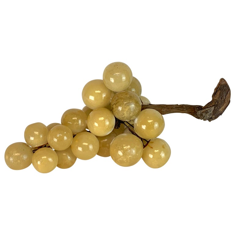 Large Midcentury Italian Marble Bunch of Grapes Sculpture For Sale