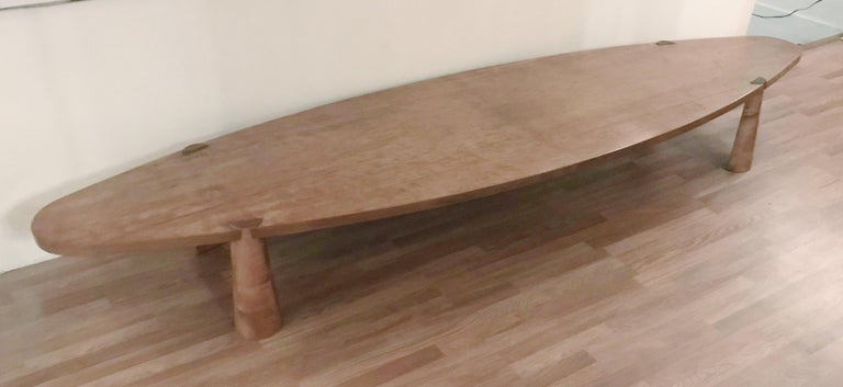Pressed Large Midcentury Italian Wooden Table FINAL CLEARANCE SALE For Sale