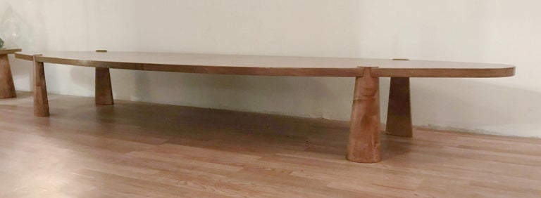 Large Midcentury Italian Wooden Table FINAL CLEARANCE SALE In Good Condition For Sale In Palm Springs, CA