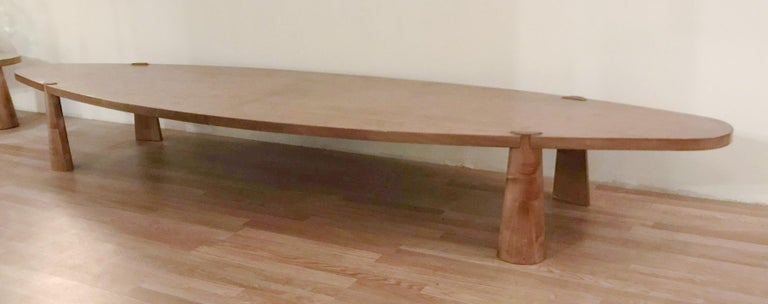 20th Century Large Midcentury Italian Wooden Table FINAL CLEARANCE SALE For Sale