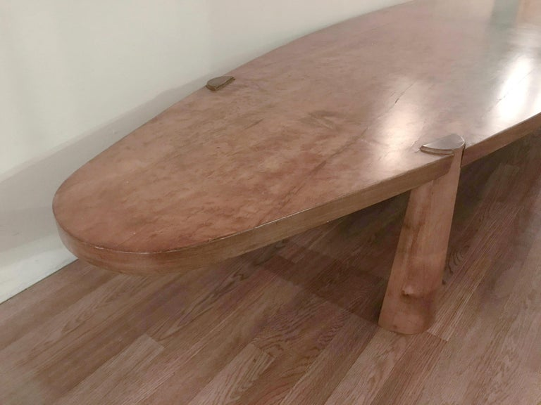 Large Midcentury Italian Wooden Table FINAL CLEARANCE SALE For Sale 1