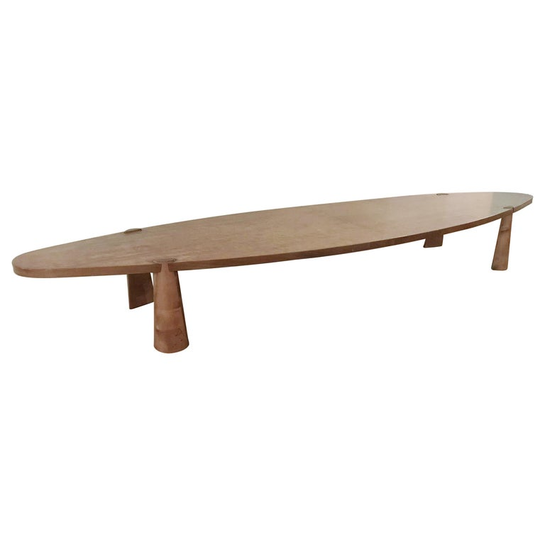 Large Midcentury Italian Wooden Table FINAL CLEARANCE SALE For Sale