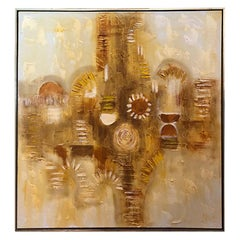 Large Mid Century Modern Abstract by J.Keane