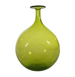 Large Mid-Century Modern Art Glass Vase by Wayne Husted for Blenko Glass