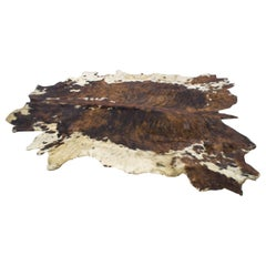 Large Mid-Century Modern Cowhide Rug, 1960s Brazil