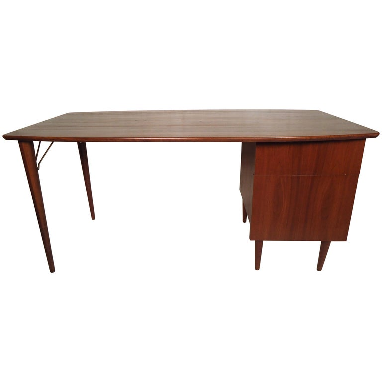 Large Mid Century Modern Desk For Sale At 1stdibs