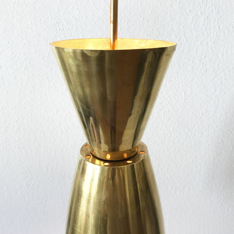 Large Mid-Century Modern Diabolo Brass Pendant Lamp, 1950s, Germany For Sale 7