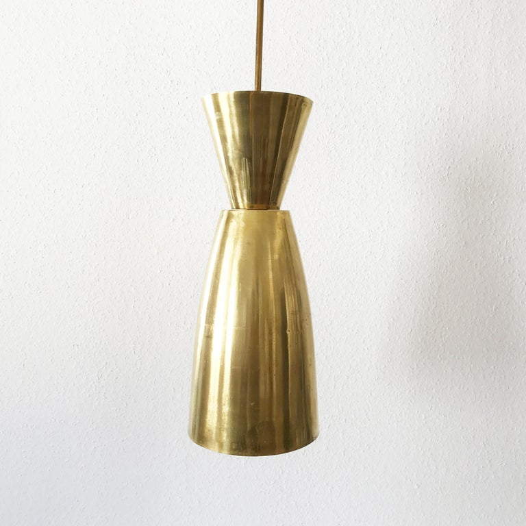Large Mid-Century Modern Diabolo Brass Pendant Lamp, 1950s, Germany For Sale 2