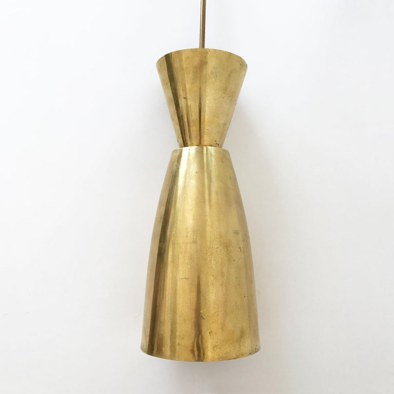 Large Mid-Century Modern Diabolo Brass Pendant Lamp, 1950s, Germany For Sale 3