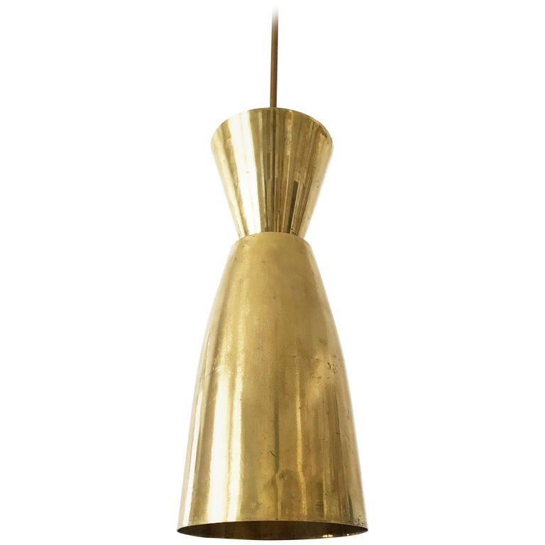 Large Mid-Century Modern Diabolo Brass Pendant Lamp, 1950s, Germany For Sale