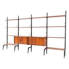 Large Mid-Century Modern Free Standing Wall Unit by Louis Van Teeffelen for Webe