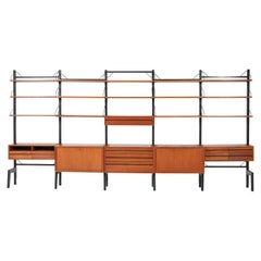 Large Mid-Century Modern Free Standing Wall Unit by Poul Cadovius for Cado