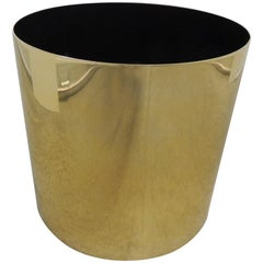 Large Mid-Century Modern Gold Color Round Planter